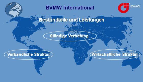 BVMW International Bestandteile und Leistungen Ständige Vertretung Verbandliche StrukturWirtschaftliche Struktur