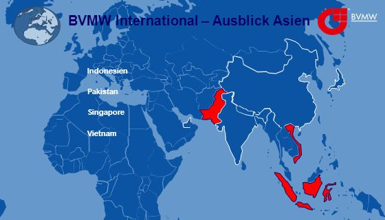 BVMW International – Ausblick Asien Indonesien Pakistan Singapore Vietnam