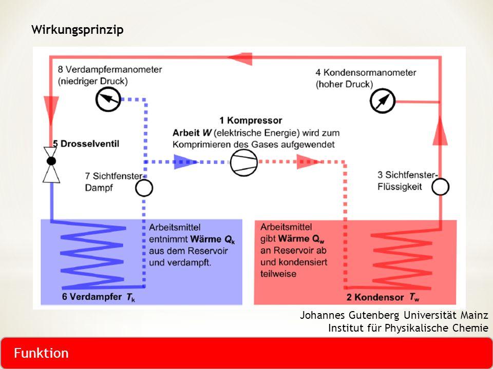 Wirkungsprinzip Johannes Gutenberg Universität Mainz Institut für Physikalische Chemie Funktion