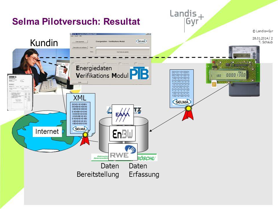© Landis+Gyr 28.01.2014 / 3 T. Schaub Das Energiedaten Verifikations Modul