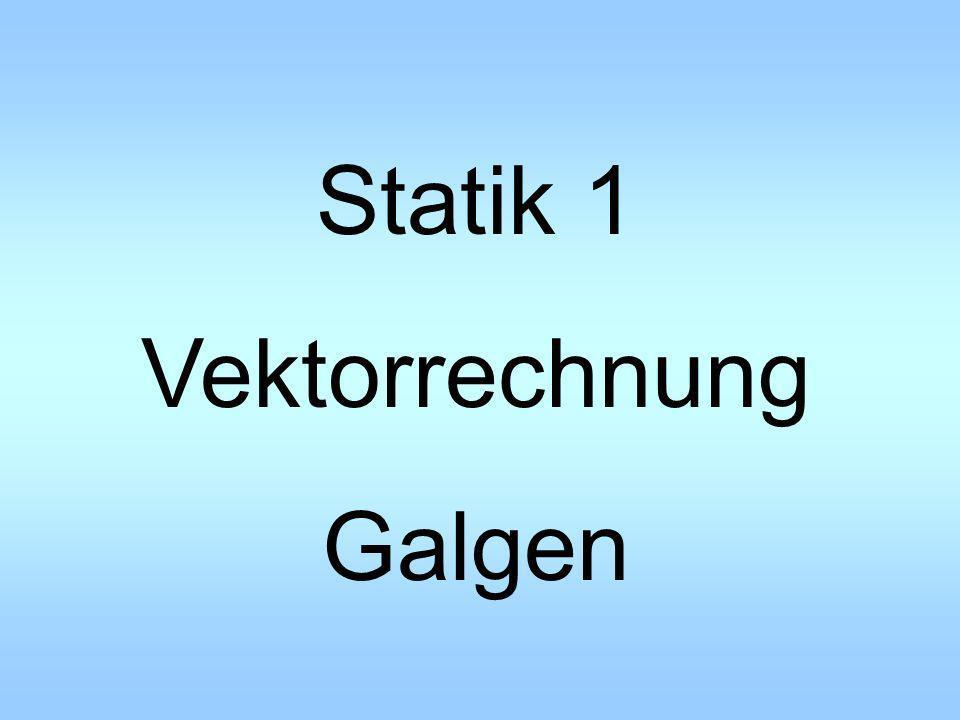 Statik 1 Vektorrechnung Galgen
