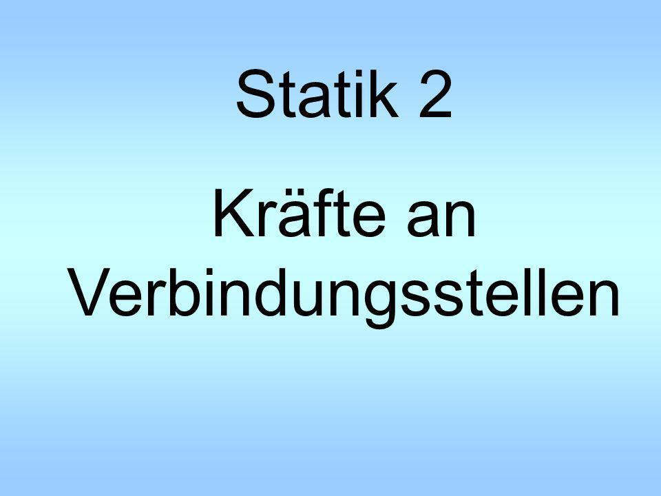 Statik 2 Kräfte an Verbindungsstellen