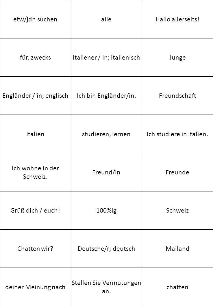 Franzose/Französin; französisch Schweizer/in; schweizerisch meiner Meinung nach Bilden Sie Dialoge.Spanier/in; spanisch Österreicher / in; österreichisch ParisFrankreichNiederlande Erzählen Sie.ÖsterreichDeutschland StaatsangehörigkeitFamilienname(Vor-) Name Wie spricht man das aus.