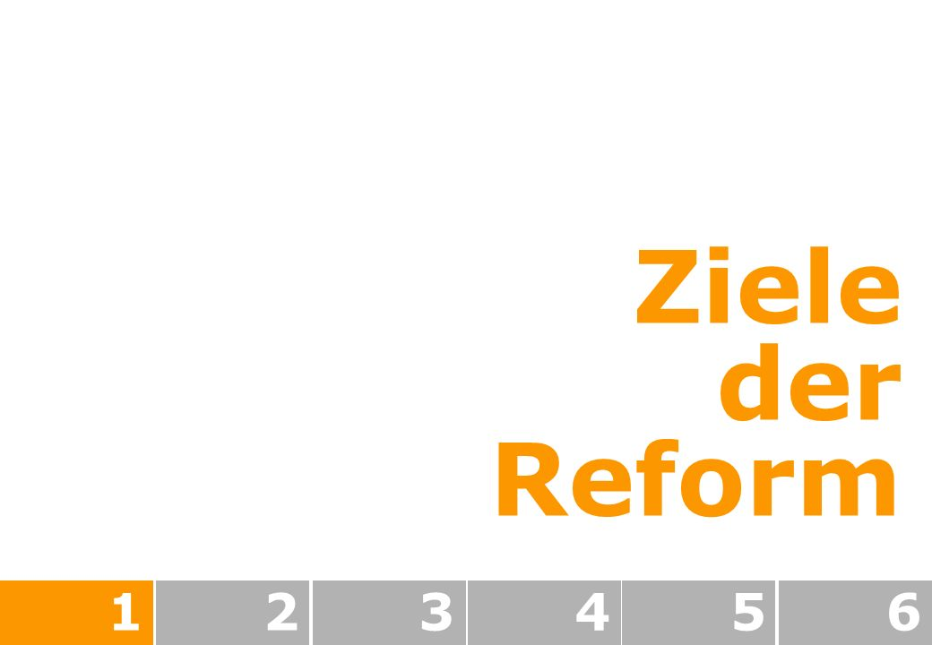 Ziele der Reform 123456