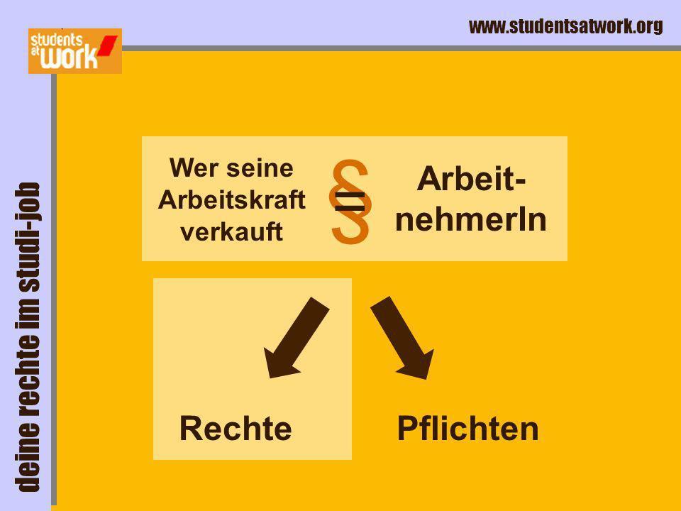 www.studentsatwork.org deine rechte im studi-job...Deine Rechte im Studi-Job