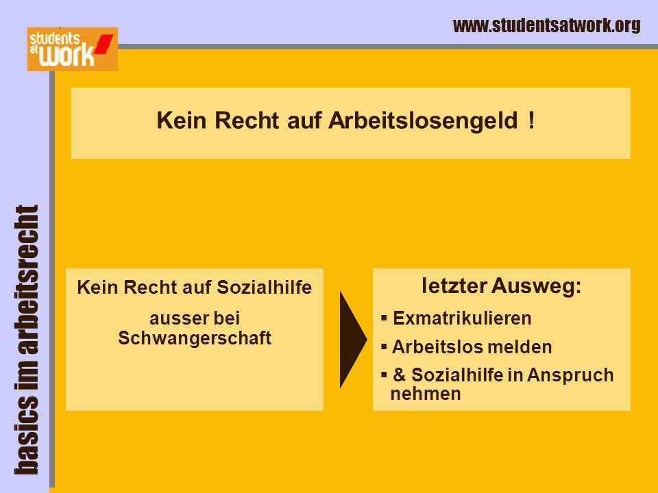 www.studentsatwork.org job weg,...und was jetzt ?! ohne job basics im arbeitsrecht