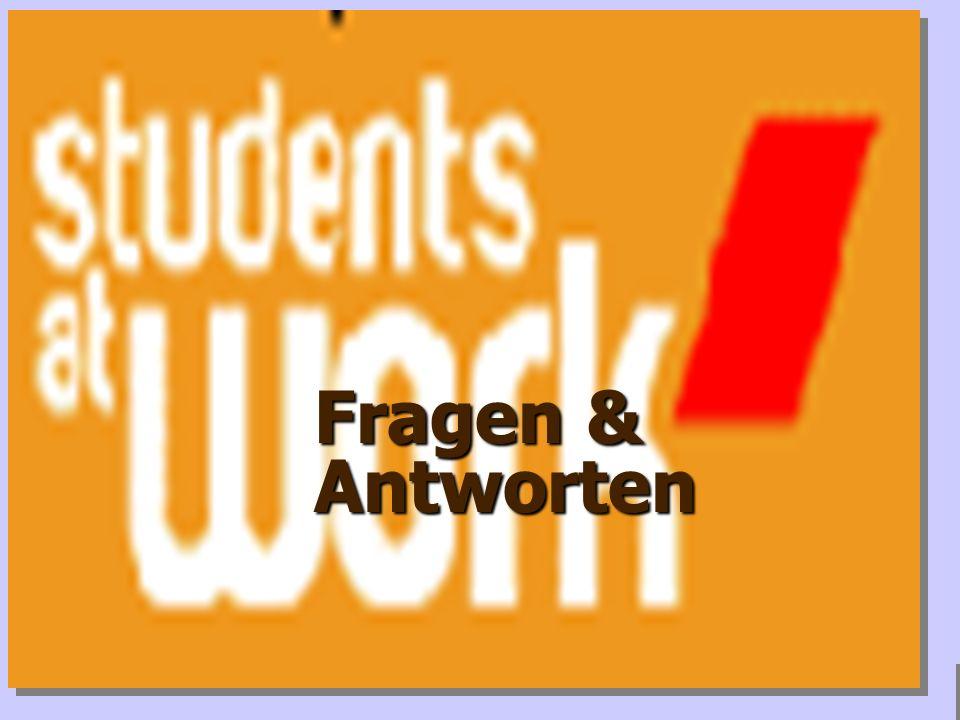 www.studentsatwork.org Seminare für verschiedene Zielgruppen Die weitere Planung für Studierende zu Beginn und in der Mitte des Studiums -> z.B. Arbei