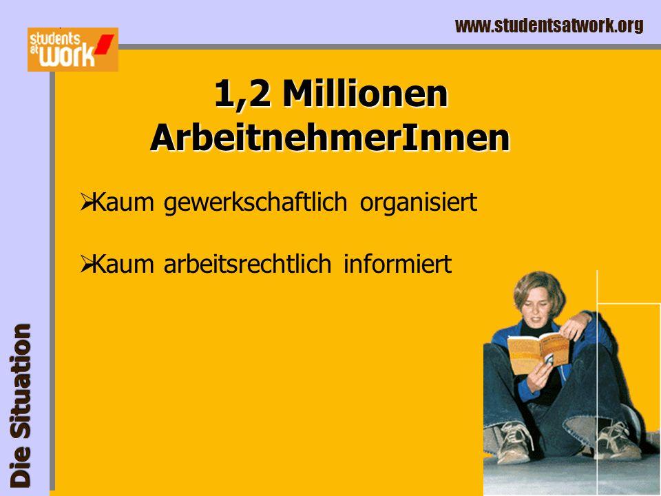 www.studentsatwork.org Hochschul-Präsenz Die Situation