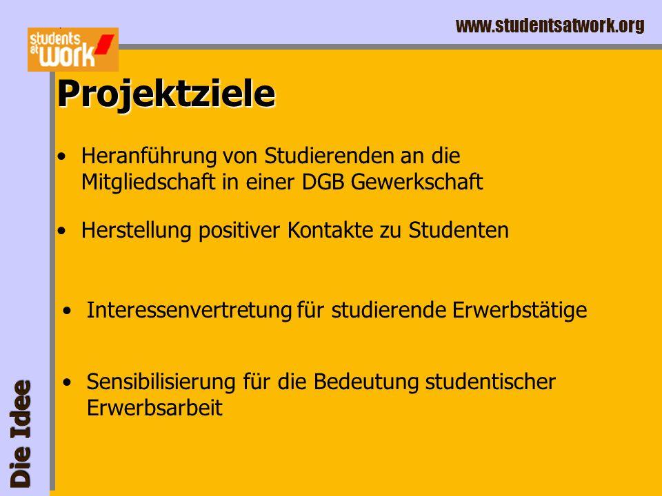 www.studentsatwork.org Die Idee