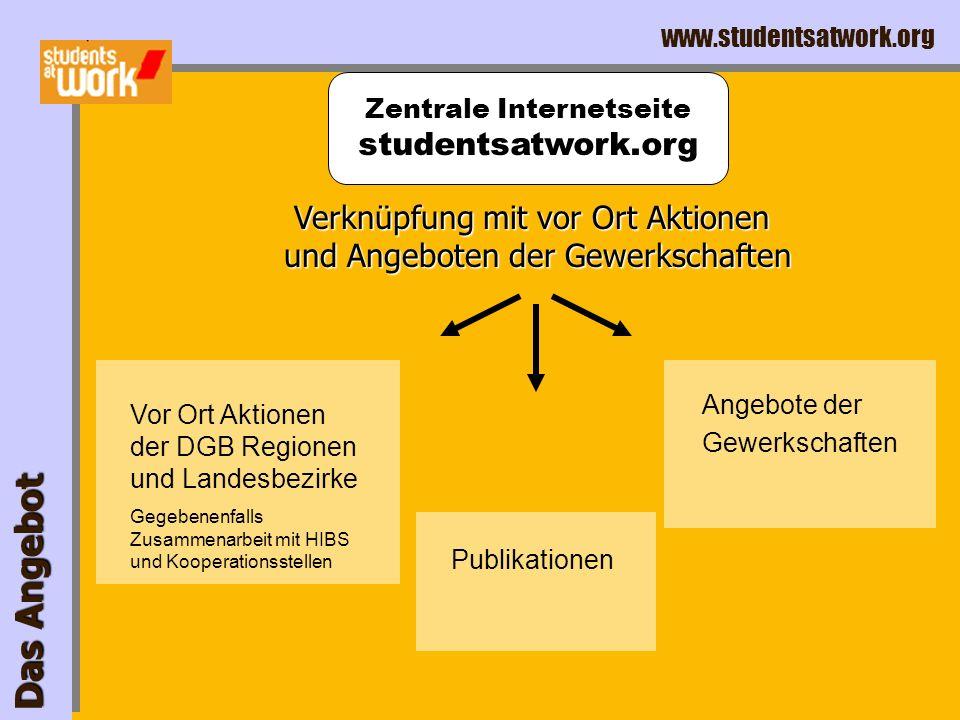 www.studentsatwork.org Das Angebot