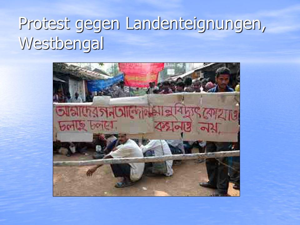 Protest gegen Landenteignungen, Westbengal