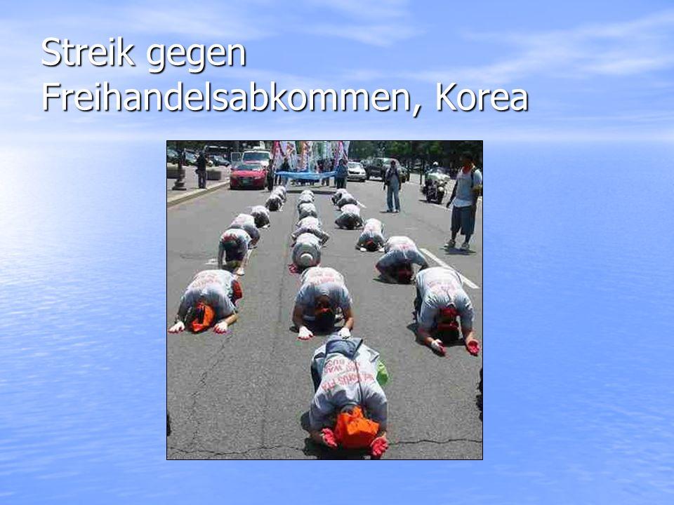 Streik gegen Freihandelsabkommen, Korea