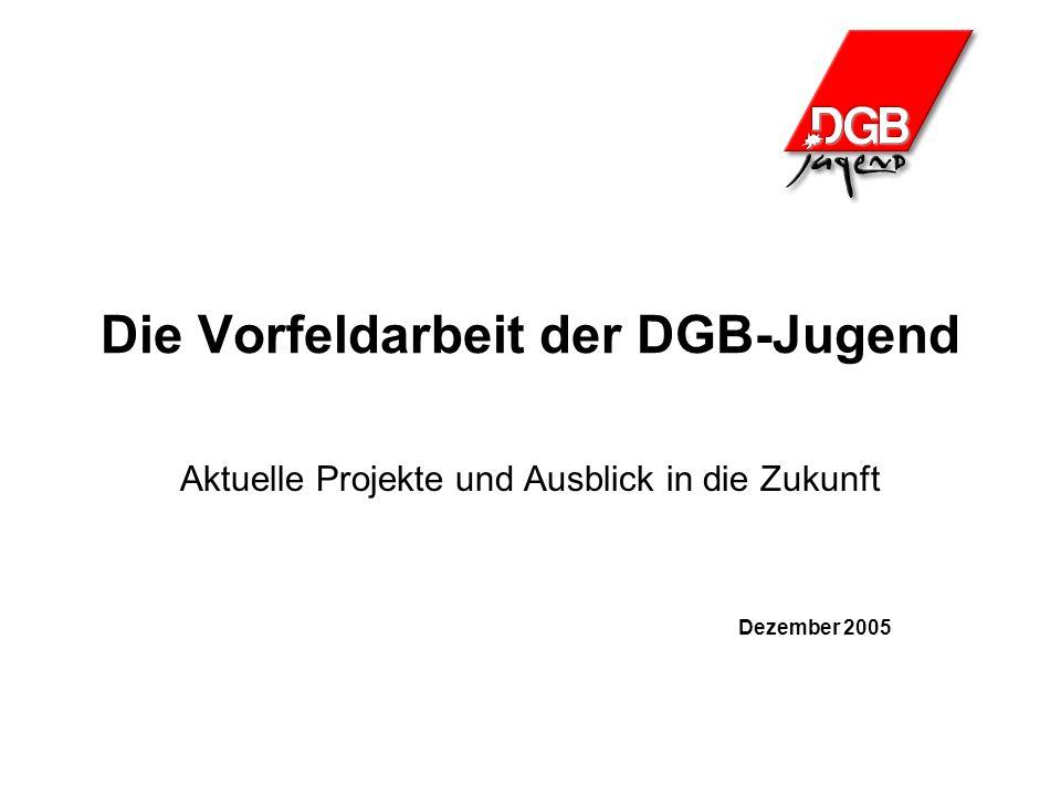 Die Vorfeldarbeit der DGB-Jugend Aktuelle Projekte und Ausblick in die Zukunft Dezember 2005