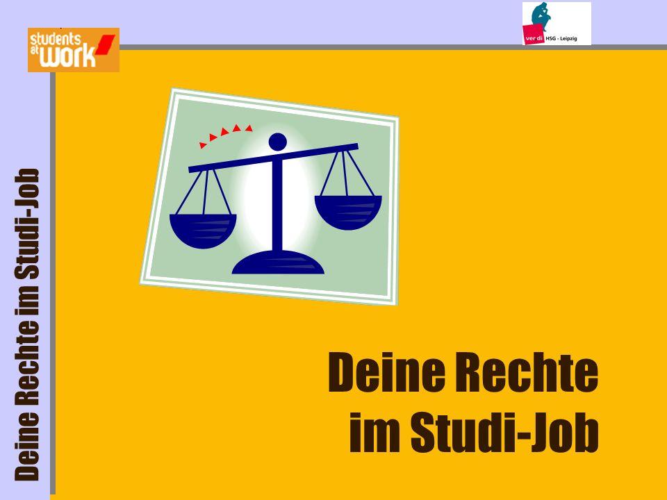 Deine Rechte im Studi-Job