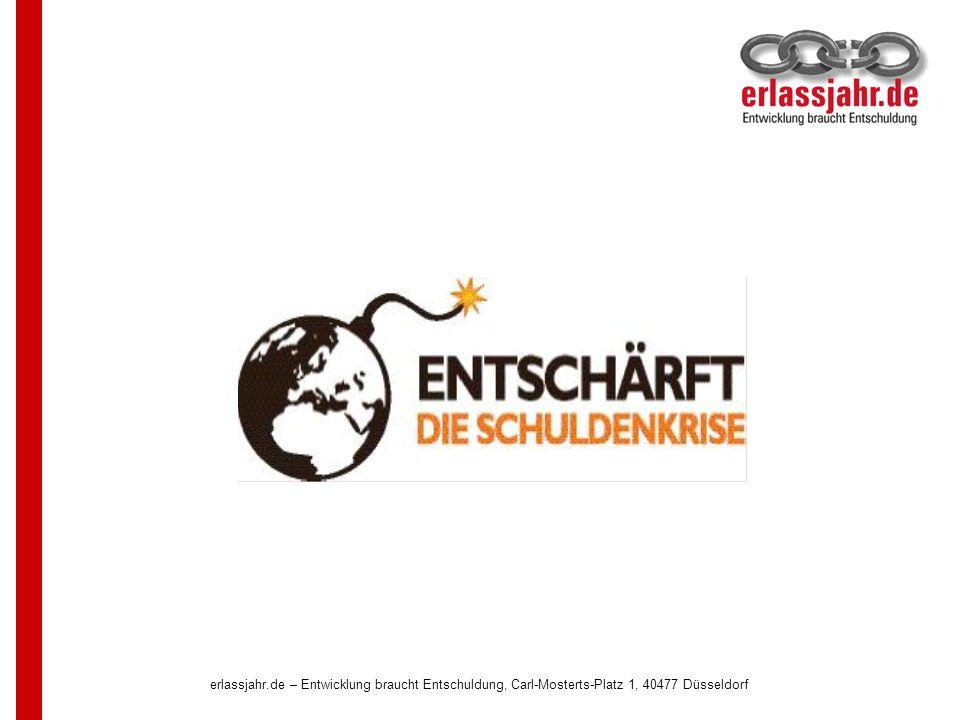 erlassjahr.de – Entwicklung braucht Entschuldung, Carl-Mosterts-Platz 1, 40477 Düsseldorf