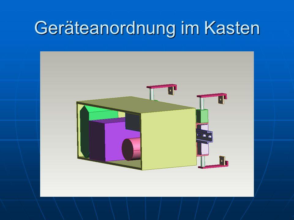 Geräteanordnung im Kasten
