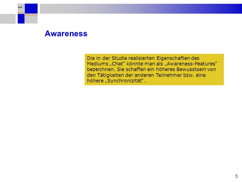Schwerpunktprogramm (SPP) Netzbasierte Wissenskommunikation in Gruppen Gefördert von der Deutschen Forschungsgemeinschaft Kognitive Belastung bei der netzbasierten Wissenskommunikation: Tool-Effekte S.