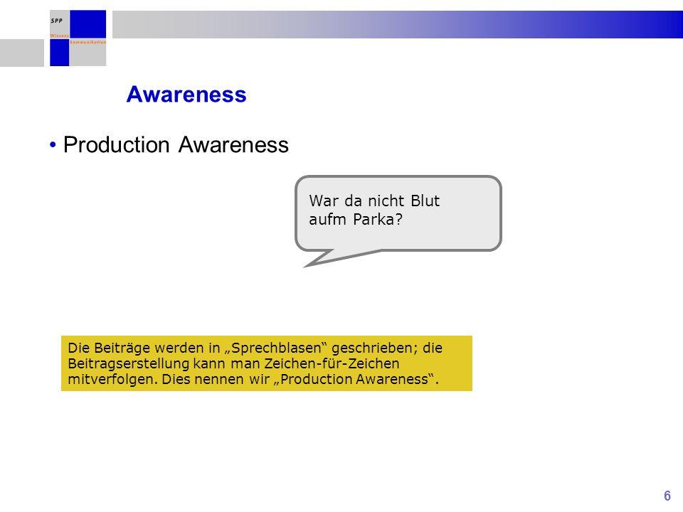7 Awareness Production Awareness Urheber War da nicht Blut aufm Parka?