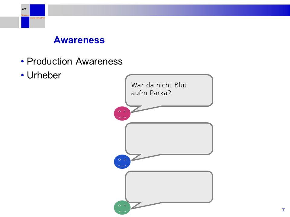 7 Awareness Production Awareness Urheber War da nicht Blut aufm Parka