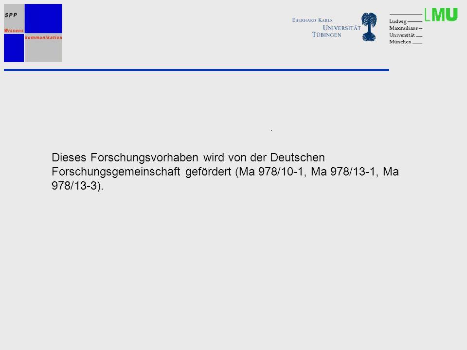 Dieses Forschungsvorhaben wird von der Deutschen Forschungsgemeinschaft gefördert (Ma 978/10-1, Ma 978/13-1, Ma 978/13-3).