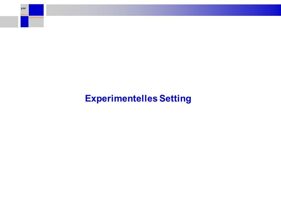 Experimentelles Setting