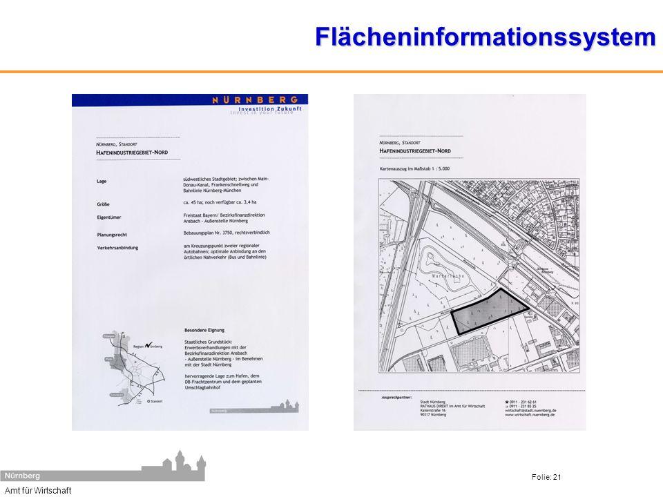 Amt für Wirtschaft Folie: 21Flächeninformationssystem