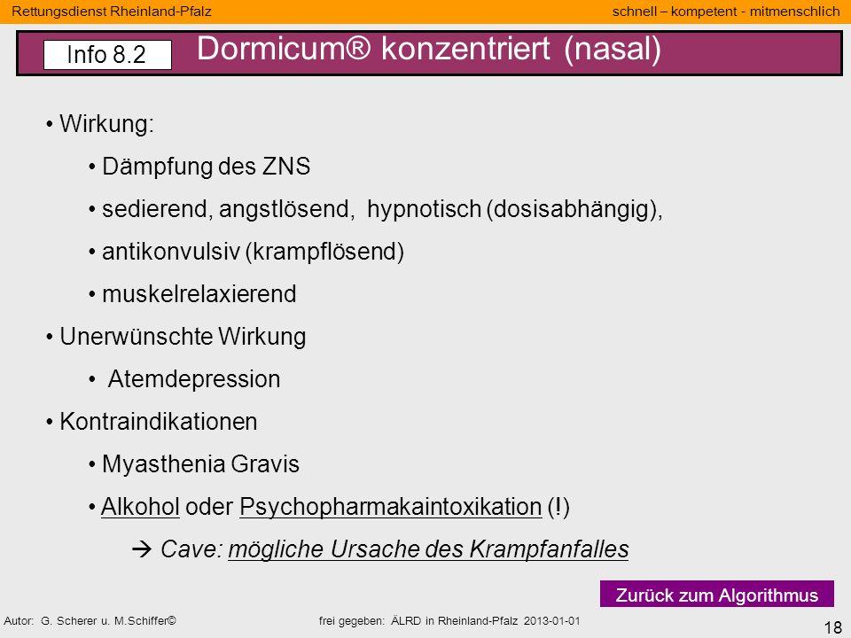 18 Rettungsdienst Rheinland-Pfalz schnell – kompetent - mitmenschlich Autor: G. Scherer u. M.Schiffer© frei gegeben: ÄLRD in Rheinland-Pfalz 2013-01-0