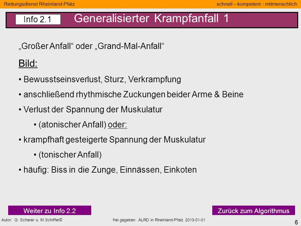17 Rettungsdienst Rheinland-Pfalz schnell – kompetent - mitmenschlich Autor: G.