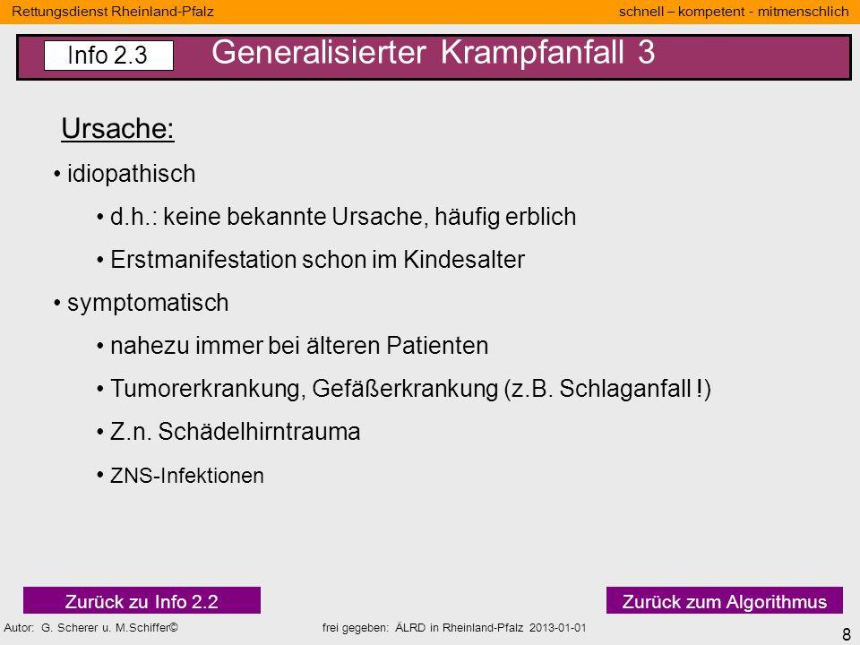 8 Rettungsdienst Rheinland-Pfalz schnell – kompetent - mitmenschlich Autor: G. Scherer u. M.Schiffer© frei gegeben: ÄLRD in Rheinland-Pfalz 2013-01-01