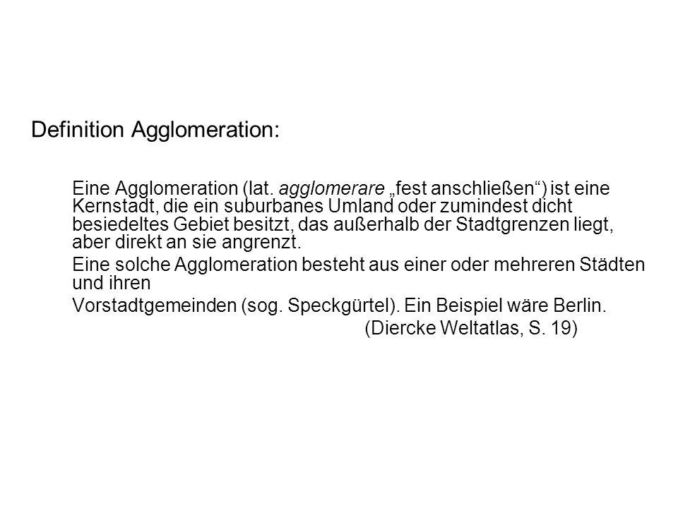 Definition Agglomeration: Eine Agglomeration (lat.