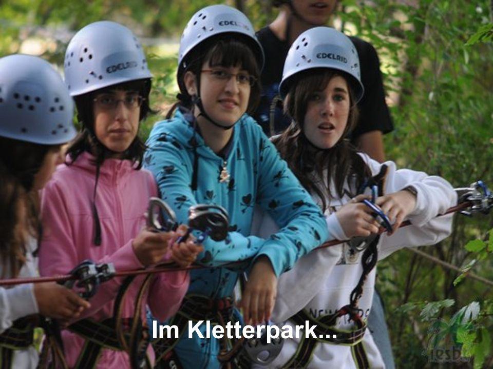 Im Kletterpark...