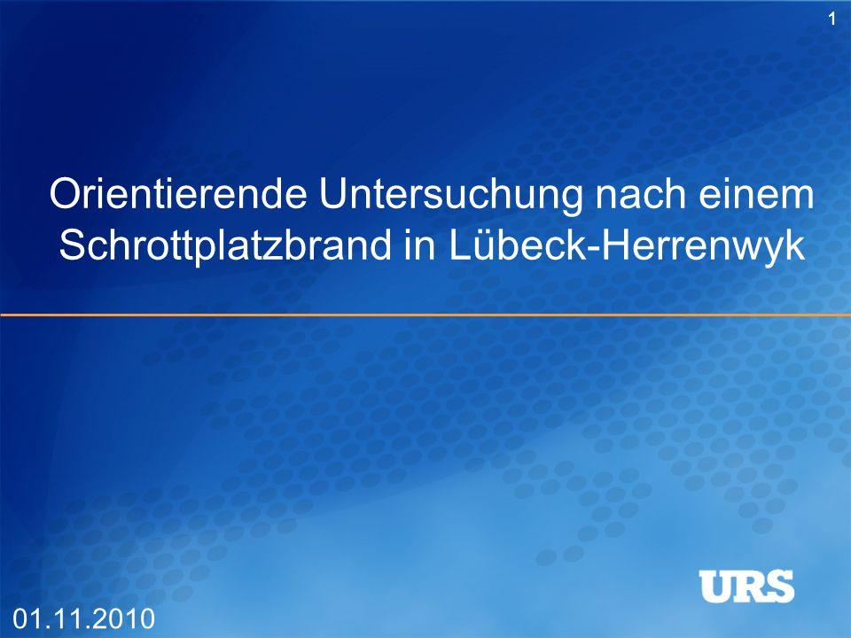 Orientierende Untersuchung nach einem Schrottplatzbrand in Lübeck-Herrenwyk 01.11.2010 1