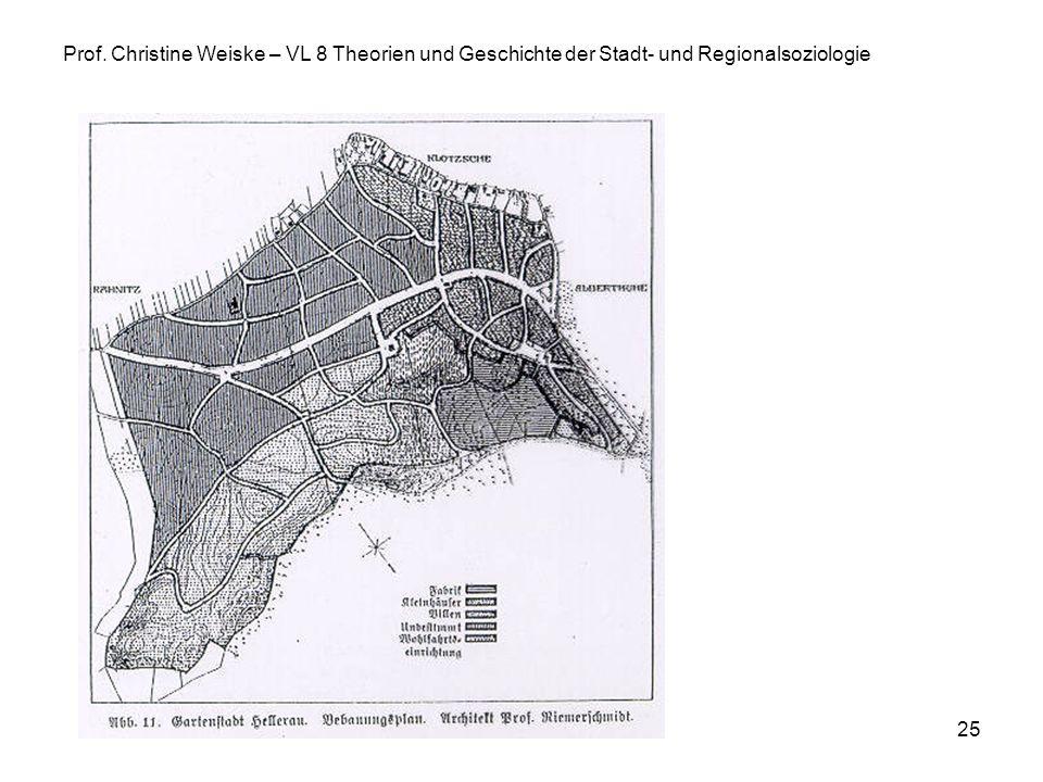 25 Prof. Christine Weiske – VL 8 Theorien und Geschichte der Stadt- und Regionalsoziologie