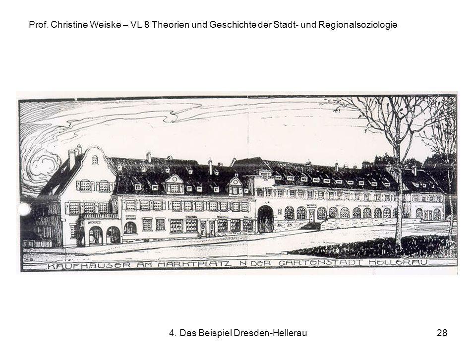 4. Das Beispiel Dresden-Hellerau28 Prof. Christine Weiske – VL 8 Theorien und Geschichte der Stadt- und Regionalsoziologie