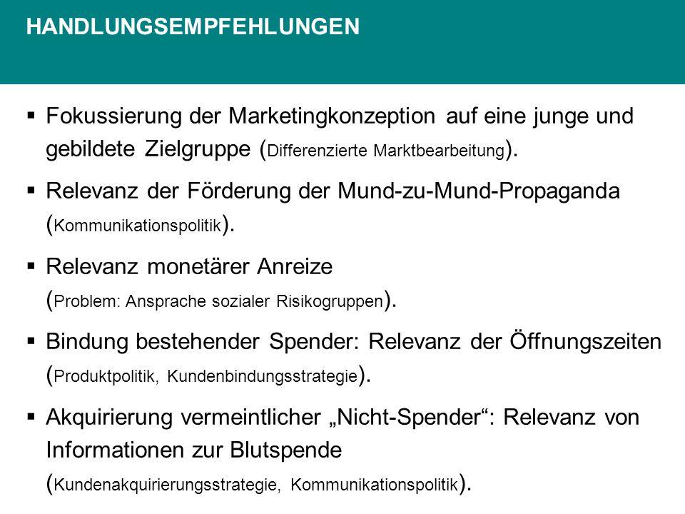 Fokussierung der Marketingkonzeption auf eine junge und gebildete Zielgruppe ( Differenzierte Marktbearbeitung ).