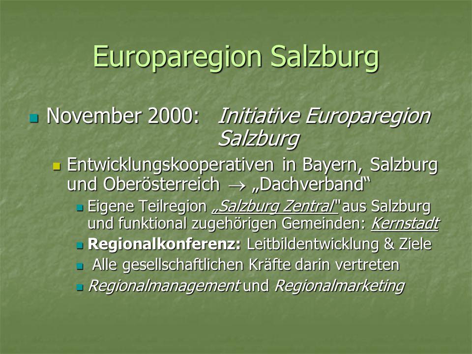 Europaregion Salzburg November 2000:Initiative Europaregion Salzburg November 2000:Initiative Europaregion Salzburg Entwicklungskooperativen in Bayern