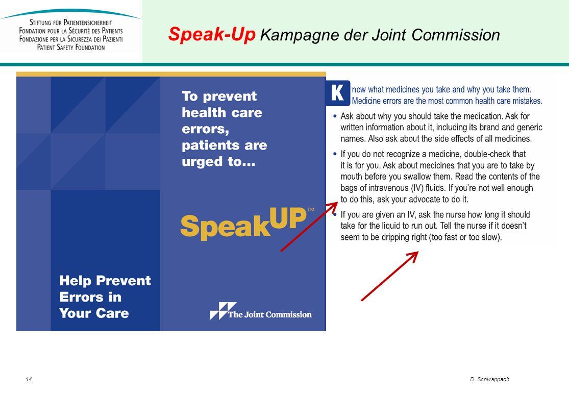 14D. Schwappach Speak-Up Kampagne der Joint Commission