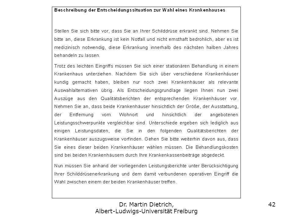 Dr. Martin Dietrich, Albert-Ludwigs-Universität Freiburg 42