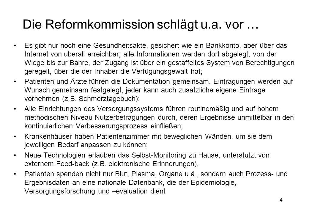 4 Die Reformkommission schlägt u.a.