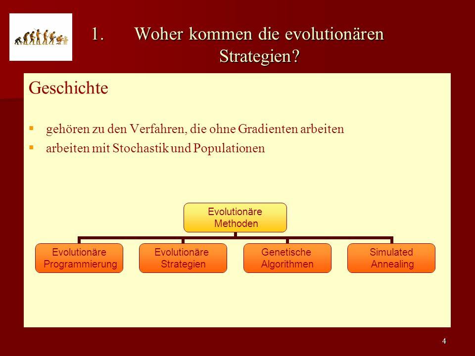 4 1.Woher kommen die evolutionären Strategien.