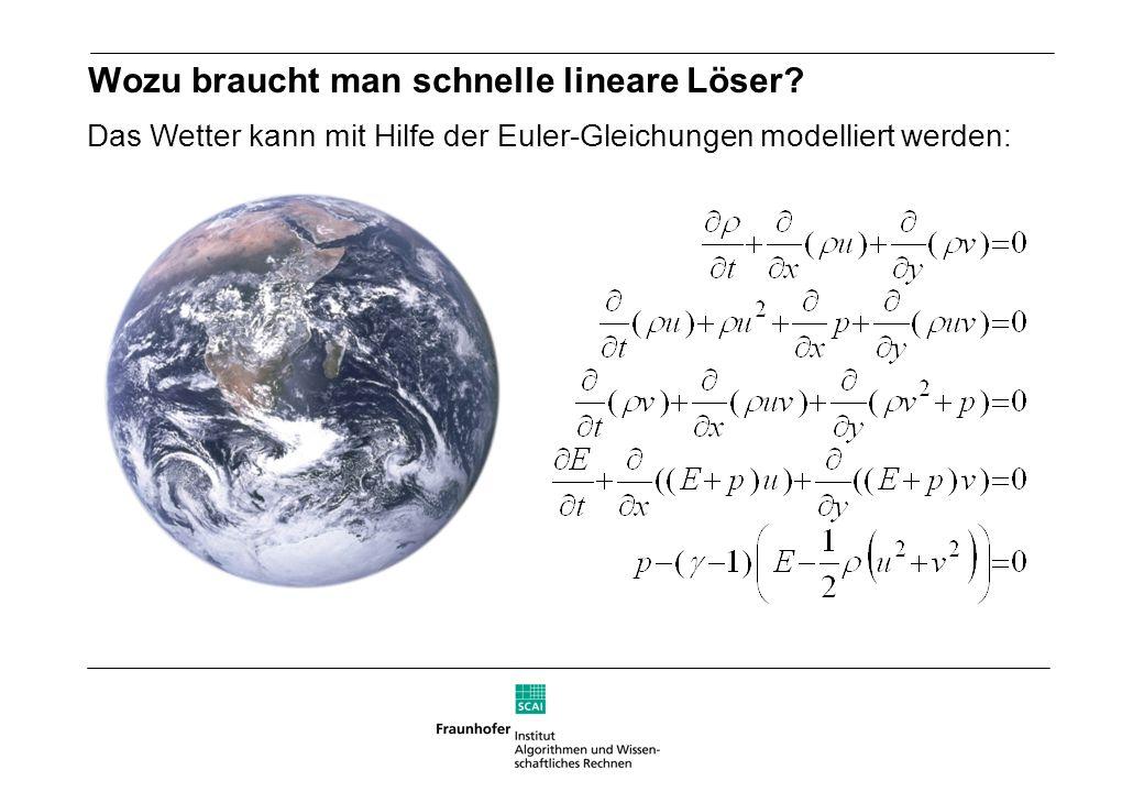 Das Wetter kann mit Hilfe der Euler-Gleichungen modelliert werden: