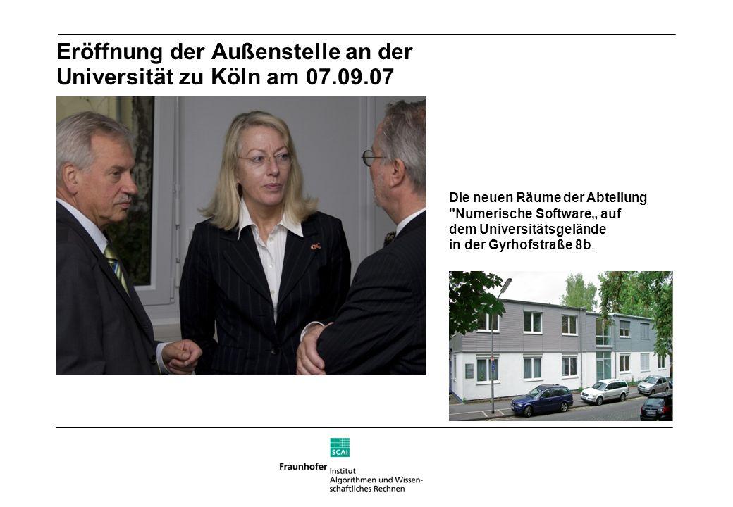 Eröffnung der Außenstelle an der Universität zu Köln am 07.09.07 Die neuen Räume der Abteilung