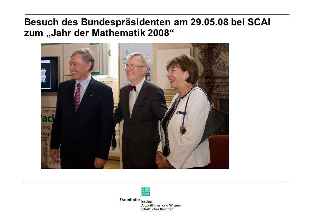 Besuch des Bundespräsidenten am 29.05.08 bei SCAI zum Jahr der Mathematik 2008