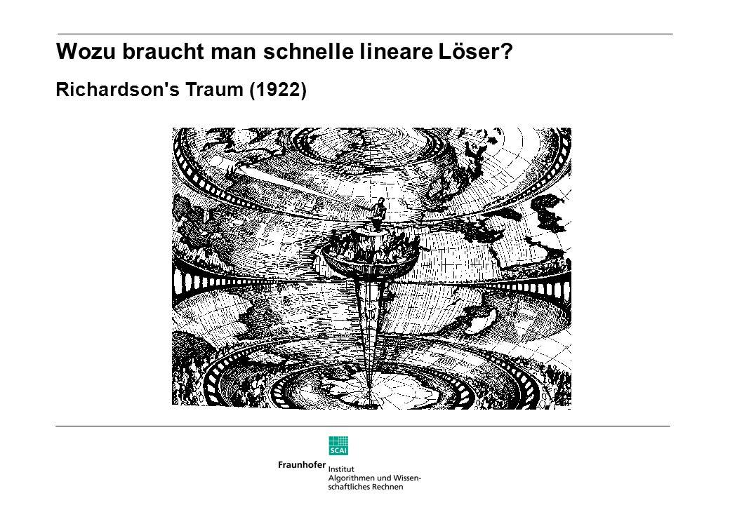 Richardson's Traum (1922) Wozu braucht man schnelle lineare Löser?