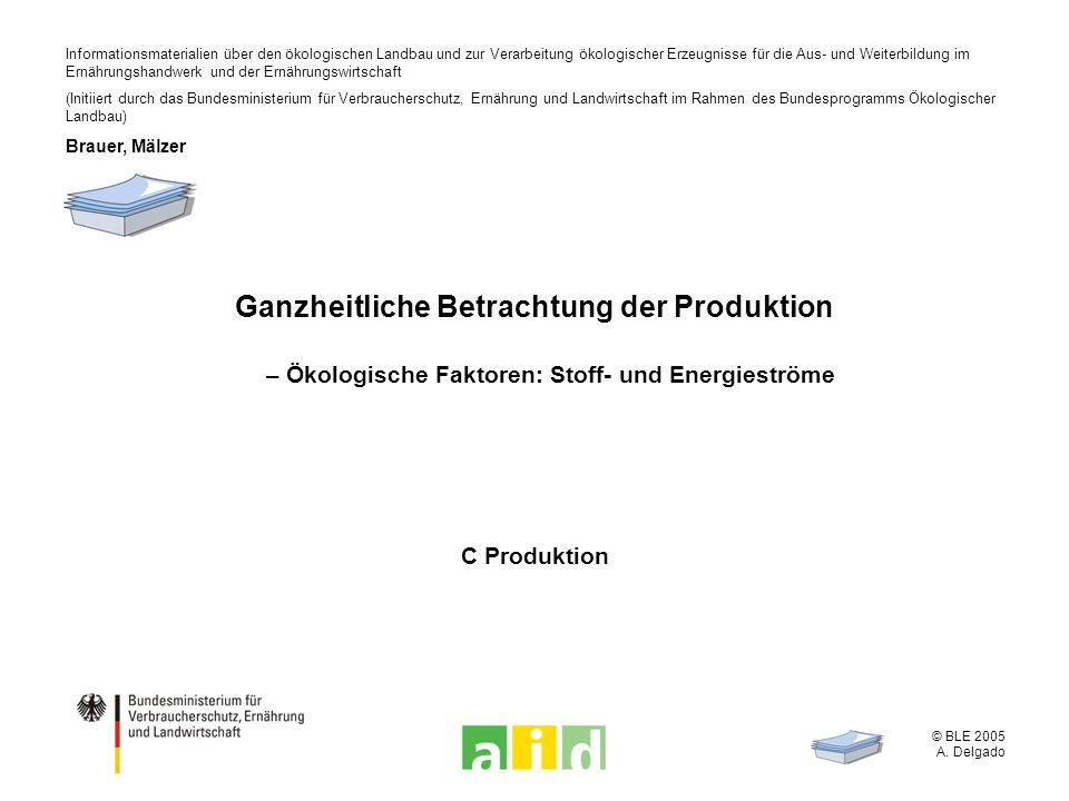 © BLE 2005 A. Delgado Informationsmaterialien über den ökologischen Landbau und zur Verarbeitung ökologischer Erzeugnisse für die Aus- und Weiterbildu