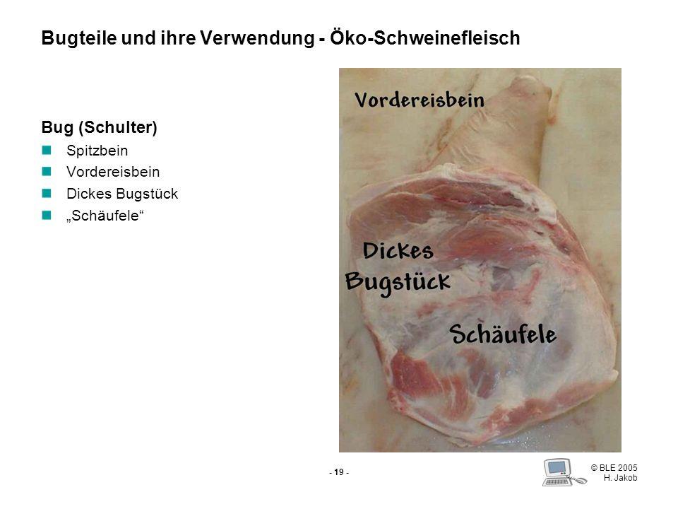 © BLE 2005 H. Jakob - 18 - Schweinebauch Grillscheiben Gegrillter Bauch Räucherbauch Schweinebraten Falsche Koteletts Rollbraten Füllen Zwiebelfleisch