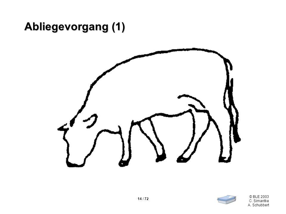 14 / 72 © BLE 2003 C. Simantke A. Schubbert Abliegevorgang (1)