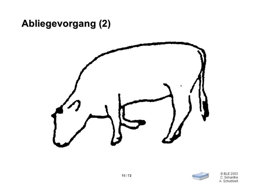 15 / 72 © BLE 2003 C. Simantke A. Schubbert Abliegevorgang (2)