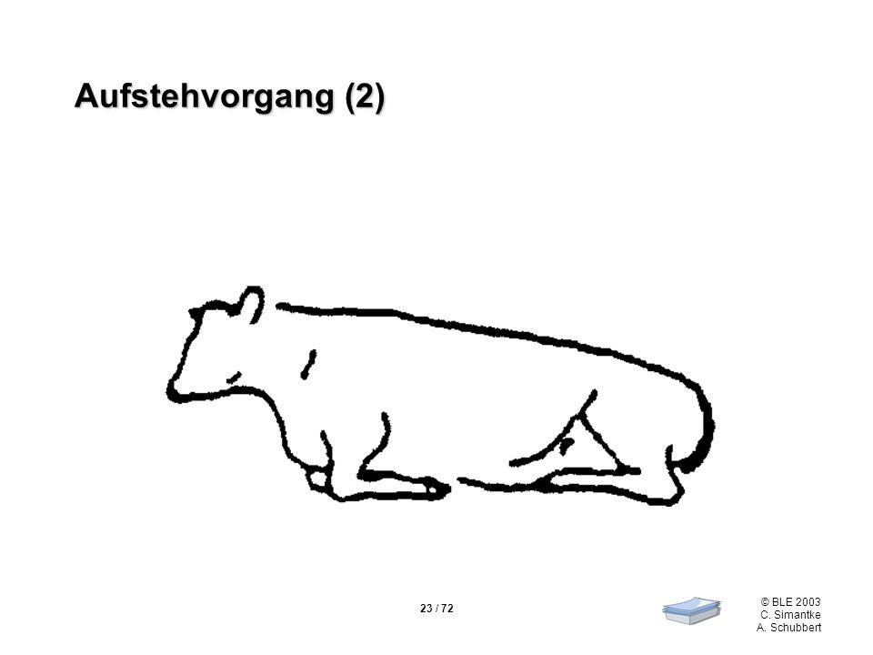 23 / 72 © BLE 2003 C. Simantke A. Schubbert Aufstehvorgang (2)
