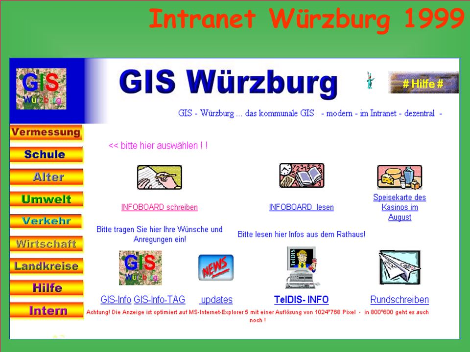 Intranet Würzburg 1999